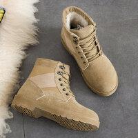 加厚韩版马丁靴女短靴学生棉鞋平底靴雪地靴女靴子