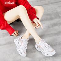 【新品限时抢】Coolmuch女跑鞋2019新款厚底增高耐磨防滑校园女生运动休闲慢跑鞋YCS003