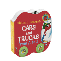 顺丰包邮 Richard Scarry's Cars and Trucks: From A To Z 斯凯瑞:汽车与货