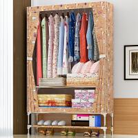 索尔诺25MM管布衣柜钢管加粗加固简易衣柜单人大号牛津布艺衣橱2595D