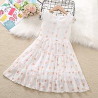 女童连衣裙夏装雪纺圆点儿童背心裙女孩公主裙子