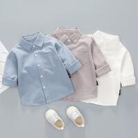 男童长袖白衬衫宝宝春装小童衣服薄款衬衣小男孩婴儿童装0潮1-3岁