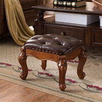 欧式茶几凳方凳实木美式换鞋凳小凳子小方凳木板凳茶几凳实木