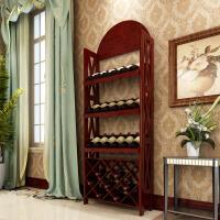 红酒架子摆件实木欧式酒柜木质葡萄酒展示架陈列柜落地架子家用
