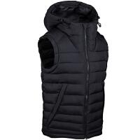 中超球员版棉马甲男冬季新款运动坎肩保暖连帽棉马甲外套
