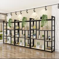 实木落地多肉绿萝花架子铁艺多层客厅台欧式室内花架置物架