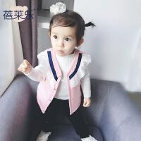 宝宝冬季3个月1岁童婴儿童厚马甲款中小童装冬装棉外套新年