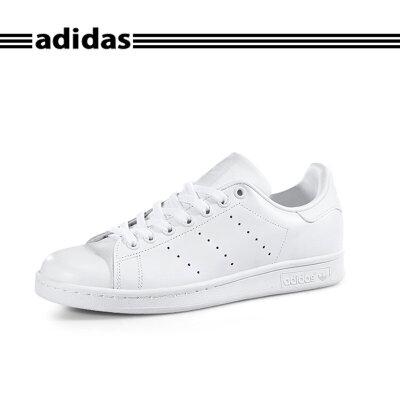 【新品】阿迪达斯Adidas STAN SMITH史密斯纯白尾小白板鞋S75104*赔十