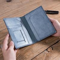 DIY材料包 雾蜡皮护照包 复古手工证件包手缝制支持刻字