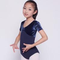 儿童舞蹈服装练功服女童体操服芭蕾舞裙短袖连体幼儿演出服