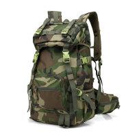 街头潮流双肩包男大容量登山包迷彩户外旅行包军事风大号电脑背包