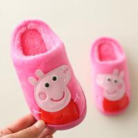 棉拖鞋冬女1-3岁可爱男童家居防滑小孩保暖宝宝室内棉鞋包根