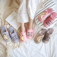 女冬居家情侣室内地板拖鞋女冬季可爱卡通亲子防滑儿童棉拖鞋
