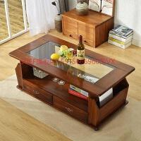 钢化玻璃茶几长方形现代简约风格客厅小户型1.2米实木类贴面家具 咖啡色 (大号)120x60x48.5CM 整装