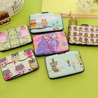 韩国森林风猫头鹰风琴卡包可爱女式多卡位卡片包公交银行卡包