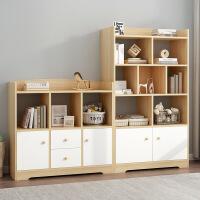 【满减优惠】靠墙柜子储物柜收纳家用木质客厅简易多层书架书柜落地带门飘窗柜