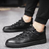 男鞋冬季潮鞋新款棉鞋韩版百搭低帮板鞋英伦皮鞋加绒保暖休闲鞋子
