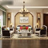 美式沙发全实木真皮沙发欧式皮艺沙发大小户型客厅组合家具