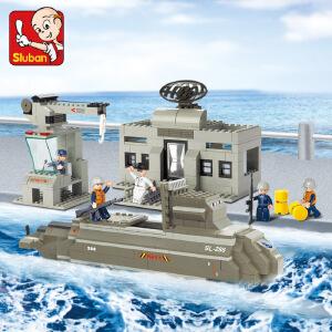 【当当自营】小鲁班海军舰队军事系列儿童益智拼装积木玩具 核潜艇M38-B0123