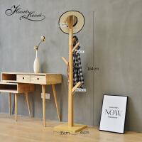 实木衣架落地卧室客厅家用省空间挂衣架简约现代创意衣帽架 树形