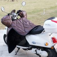 电动车挡风被冬季电瓶车挡风罩皮革PU保暖加厚 摩托车防风被护腿新品