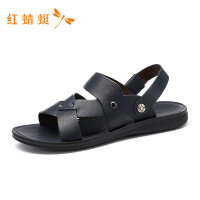 红蜻蜓男鞋夏季新款男凉鞋露趾透气简约百搭套脚沙滩休闲男凉鞋