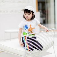 儿童夏季短袖t恤女童洋气公主上衣女宝宝夏装5小童6夏天衣服1-3岁