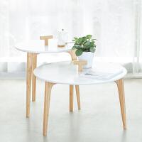 橙舍 芭乐组合茶几 现代简约竹纤维面板沙发边几小户型边桌