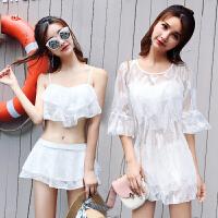 分体裙式泳衣女三件套小胸聚拢性感遮肚显瘦韩国小香风温泉游泳衣