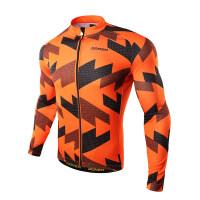 骑行服男秋冬季防风长袖上衣自行车山地车衣服套装抓绒加厚装备新品