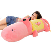 河马公仔大号睡觉抱枕靠垫鳄鱼布娃娃玩偶毛绒玩具生日礼物情人节