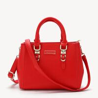 女士包包2018新款欧美手提包时尚女包红色结婚新娘包单肩斜挎小包 红色 926#大号