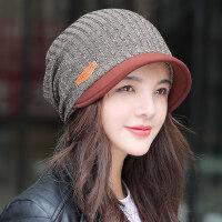 帽子女韩版包头帽休闲百搭时尚鸭舌帽秋冬出游保暖针织帽