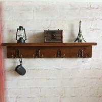 挂壁实木隔板客厅置物架墙上松木板墙壁挂实木搁板挂钩