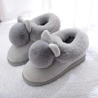 棉拖鞋女男室内包跟冬季居家厚底家居家用可爱毛绒拖鞋冬天月子鞋