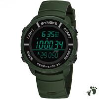 电子表 运动计步计时防水夜光闹钟多功能大中学生手表男士