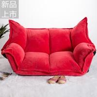 懒人沙发双人日式榻榻米沙发卧室阳台休闲可折叠沙发床定制