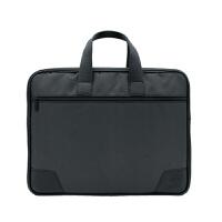 公文包男士商务手提包电脑包 帆布会议包文件资料袋 邮差包女定制 黑色