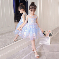 女童夏装连衣裙洋气背心公主裙儿童礼服女孩网纱裙子