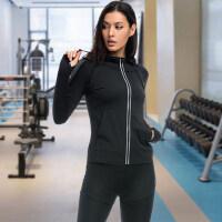 大码女装外套女胖mm200斤跑步运动长袖速干宽松瑜伽健身上衣