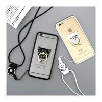 【包邮】智尚 iPhone6plus手机壳指环支架苹果6S手机壳4.7挂脖绳透明创