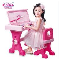 宝丽电子琴1405二合一书桌电子琴儿童多功能学习琴乐器配送话筒