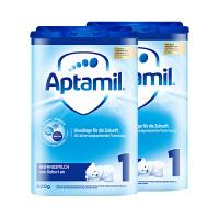 【1段普通】保税区发货 德国Aptamil爱他美 德爱婴幼儿奶粉一段(0-6个月) 800g*2罐 海外购