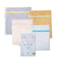 【新品特惠】洗衣袋洗衣机专用大号过滤网袋洗内衣的网兜文胸防变形护洗袋FG型 5件套A -特大+大+中+小+迷你(粗网)
