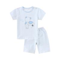 小猪班纳童装男童睡衣夏季儿童家居服条纹套装宝宝空调服两件套