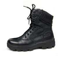 巡洋舰男靴军靴特种兵户外春夏季耐磨防滑皮靴作战靴真皮靴子