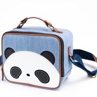 卡通熊猫可爱单反相机包摄影包适合尼康佳能200D 80D 750D 6D 浅色熊猫