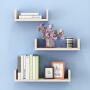 墙上置物架客厅墙壁挂墙面装饰隔板搁卧室多层书架免打孔简约现代