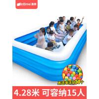 儿童充气游泳池家用婴儿宝宝室内加厚折叠超大户外大型小孩水池