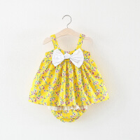 女童洋气套装女宝宝时尚韩版婴儿衣服小童婴幼儿夏装0潮1-3周岁半
